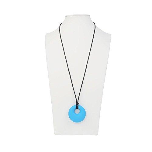 Image of Kette mit Anhänger- IntiPal Baby Beisskette Stillkette Mamakette Silikon PBA Frei (Blau)