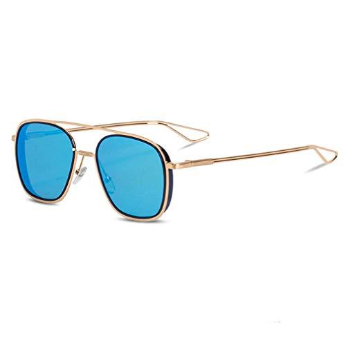 HQMGLASSES Double Beam Gradient Lens Sonnenbrille-Fashion Women Men Vintage Retro Gold Frame Aviator Brille UV400 Sun Glasses,06