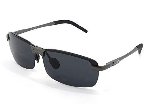 LZXC occhiali da sole polarizzati di guida All'aperto Sport Eyewear Uomini Regolabile AL-MG telaio in metallo Lens