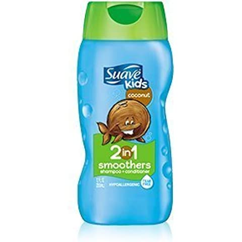 Suave Kids Coconut 2 in 1 Smoothers Shampoo + Conditioner 355 mL with Free Ayur Soap