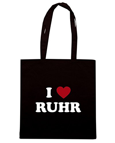T-Shirtshock - Borsa Shopping TLOVE0114 i love ruhr Nero