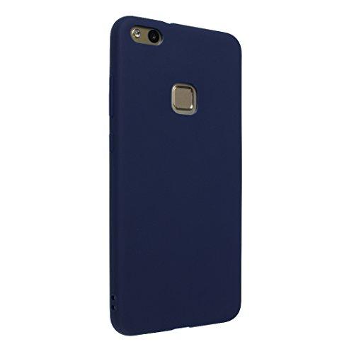 Huawei P10 Lite Hülle Dünn Silikon, Asnlove Handy Schutzhülle für Huawei P10 Lite Hülle TPU Silikon Backcover Case Handytasche Einfarbig Telefon-Kasten Tasche Schutz Cover Design