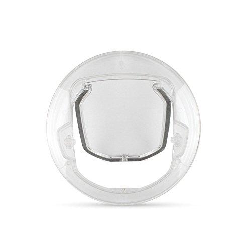 Aqi7 Kreativer Durchsichtiger Plastikhundekatzen- Und -Hundeklappe, Abschließbare Sicherheitsklappe, Verwendbar Für Kleine Hunde Und Katzen