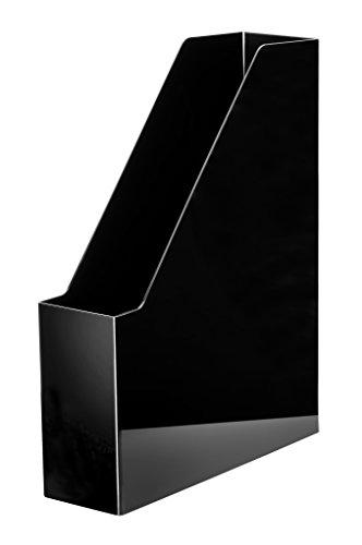 HAN Stehsammler i-Line 16501-13 in Schwarz/Eleganter, moderner Stehsammler mit großem Volumen für Hefte, Zeitschriften & Mappen/Bis Format A4/C4