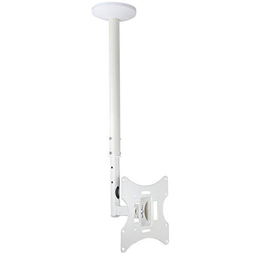 electrosmart® weiß flach Bildschirm LED/LCD TV Deckenhalterung Halterung 58,4–106,7cm mit Schwenk- und neigbar