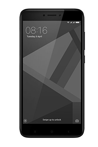 "Xiaomi Redmi 4x - Smartphone libre de 5"" (4G, WiFi, Bluetooth, Snapdragon 435 1.4 GHz, 32 GB de ROM ampliable, 3 GB RAM, rear camera 13 Mp, MIUI Android, dual-SIM), negro [Spanish version]"