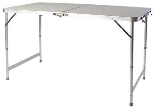 Spetebo XXL Alu Klapptisch 120x60 cm - höhenverstellbar - Campingtisch Garten Tisch