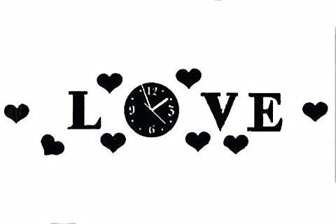 LFNRR carving art Uhren Wanduhren kreativ die Stereoanlage Schautafeln modernen dekorativen Wanduhr Wecker Mode Stil 23