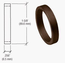 Crl Duranodic Bronze-finish (CRL Duranodic Bronze Finish 1/4 Straight Cylinder Ring by C.R. Laurence)
