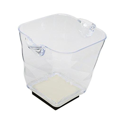 Gazechimp LED Eiswürfelbehälter/ Flaschenkühler / Getränkekühler mit USB Kabel - 5L - 20x 22x 25cm - Rot 5l X Usb