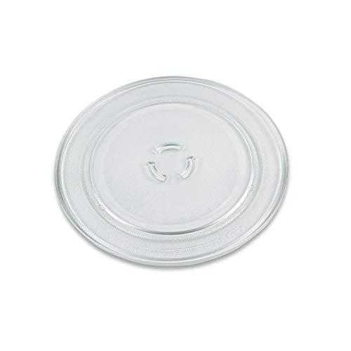 VIOKS Mikrowellenteller Teller Drehteller Glasteller für Mikrowelle Herd Durchmesser: 325 mm 32,5 cm 3 Noppen