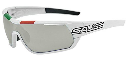 Salice Brille 016ITA CRX Tricolor weiß/RW Idro blau + klare Linsen und Selbsttönende Smoke + Seehecht