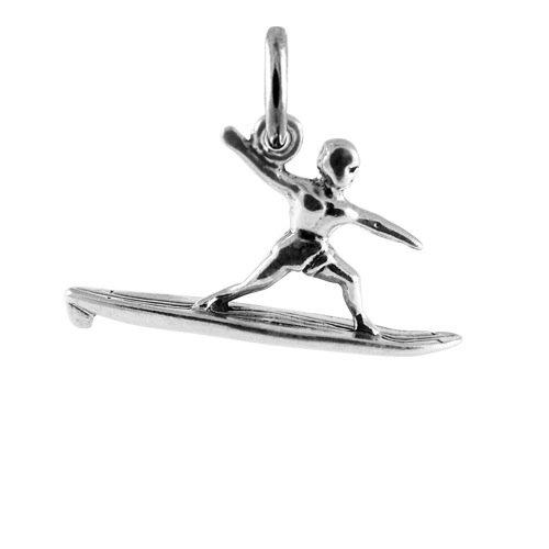 TheCharmWorks Sterlingsilber Wellenreiter Charmanhänger   Sterling Silver Surfer Charm