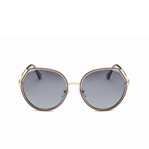 BXW Mode, die polarisierte Sonnenbrille-Frau, Metallrahmen-Golf-Schutzbrillen verwendbar für das Reiten und das Fahren des Tourismus im Freien fährt,D