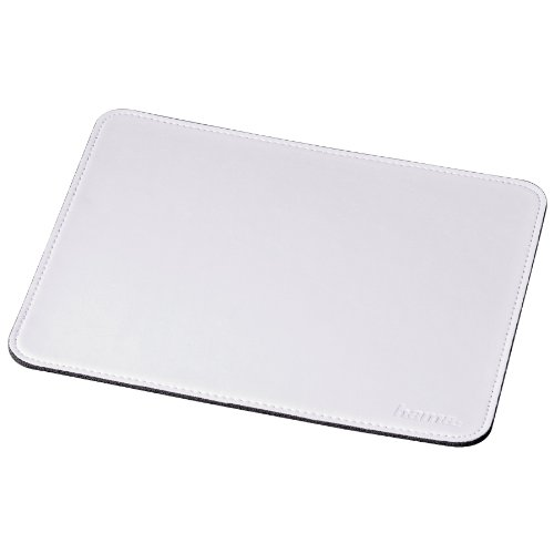 Hama Mauspad (22 x 18 cm, Office Mousepad in Lederoptik, optimale Gleitfähigkeit, rutschfeste Unterseite) weiß
