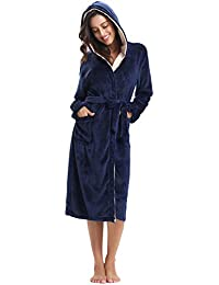 Aibrou Unisex Calientes Albornoz Invierno Batas Kimono Baño para Hombre y Mujer,Suave Comodo y