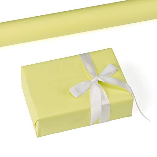 (RUSPEPA Gelbes Kraftpapier - 47,8 Quadratmeter Schweres Papier Für Hochzeit, Geburtstag, Dusche, Glückwünsche Und Weihnachtsgeschenke - 44,5Cm X 10M Pro Rolle)