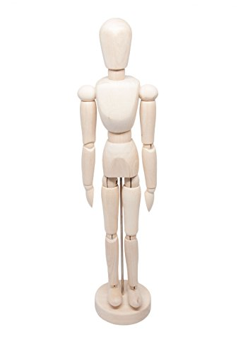 Posable 13 inch Flexible Art and Drawing Wooden Man Model Mannequin Manikin for Sketching Figure Crafts and Modeling