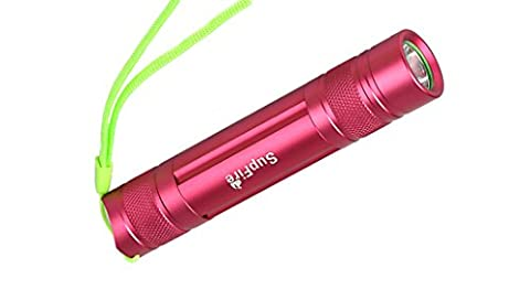 NIUERTE SUPFIRE Mini Portable 3-5W Ultra Bright Flashlight for Camping Hiking Outdoor 3W Red