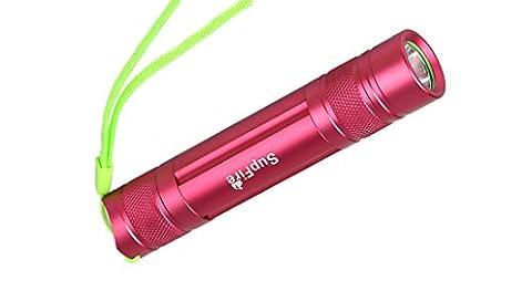 Niuerte Supfire Mini Portable 3–5W Ultra Lumineux Lampe de poche pour le camping randonnée en plein air, S5-3W-Red