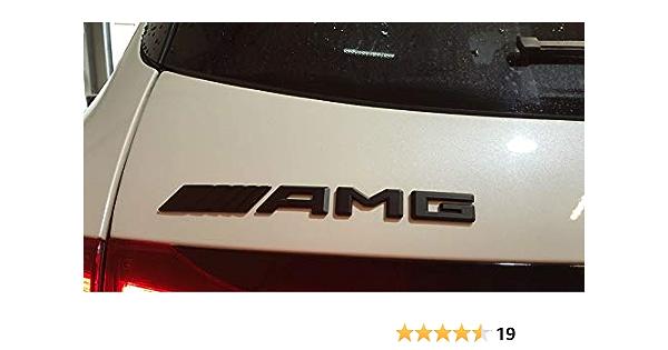 Amg Emblem Lettering Nameplate Logo Black Matt Benz New For All Models Auto