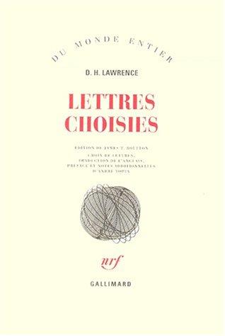 Lettres choisies par David Herbert Lawrence