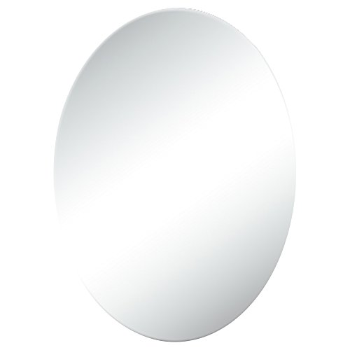 GUOWEI Spiegel Wandhalterung Badezimmer Bilden Dressing Eitelkeit Rahmenlos Oval 4 Größe (Farbe : Silber, größe : 45x60cm) -