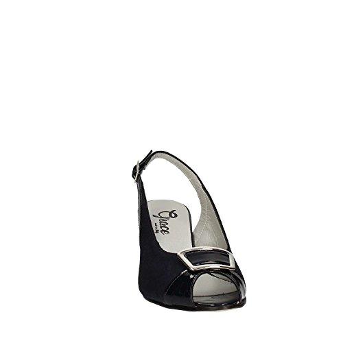 GRACE SHOES E7831C Sandalo tacco Donna Nero