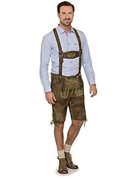 Michaelax-Fashion-Trade Stockerpoint - Herren Trachten Lederhose mit Träger, in verschiedenen Farben, Edgar