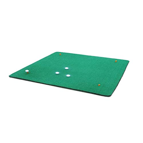 JKLL Golfmatte Residential Golf Hitting Mat-tragbare Zwei Farbe Gras einseitig/doppelseitig Trainingsgerät, Simulation Swing Übungsmatte, Indoor und Outdoor (39