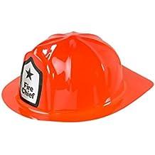Adulto bombero casco