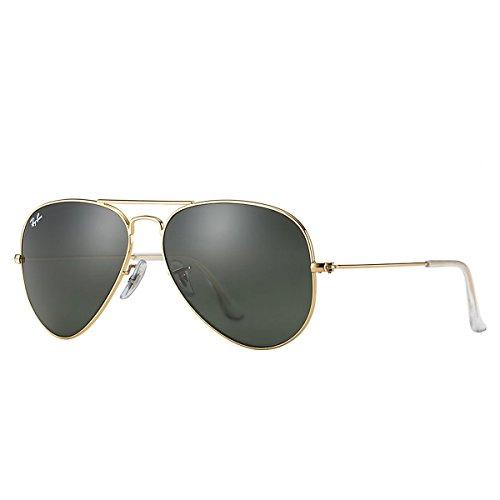 Ray Ban Unisex Sonnenbrille RB3025, Gr. Large (Herstellergröße: 58), Gold (Gestell: gold, Gläser: kristall braun gradient 001/51)