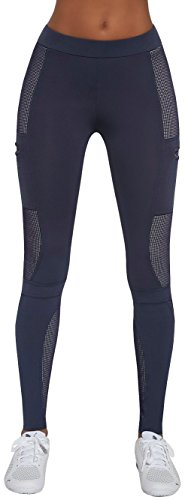 Sporthose Fitnesshose * Gr. S M L XL * Damen Leggings Leggins Fitness Laufhose Sport Jogging (Passion blau XL)