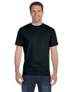 Hanes Herren T-Shirt Tagless Beefy (2XLarge) (Schwarz) (T-shirt Xxl Hanes Tagless)