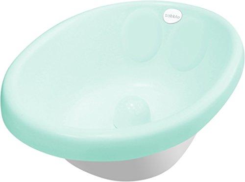 Sobble Mint – Original gepolsterte Baby-Badewanne, sicher und bequem, flexibler, verstellbarer Baby-Sitzstopper, für 0 bis 18 Monate, Isolierung hält Wasser warm, BPA-frei, 4 Farben