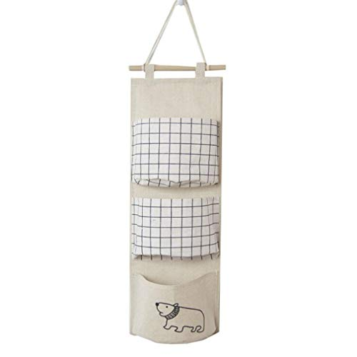 AEKKA Wall Storage Bag Hanging Bag Balcony Bathroom Car Interior Doors and Windows Behind The...
