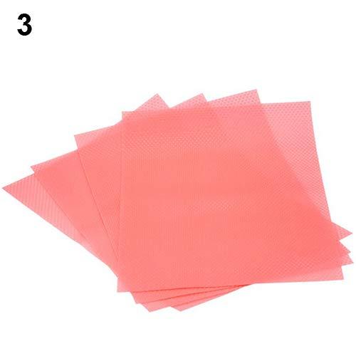 tianxiangjjeu 4 antibakterielle antibakterielle Gefrierschrankmatte kann leicht zu reinigen und gesund geschnitten werden. rose