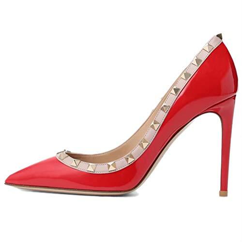 Caitlin P Damen Formale Spitzschuh Pumps Basic Schuhe High Heel Stilettos Sexy Slip on Kleid Schuhe Pumps