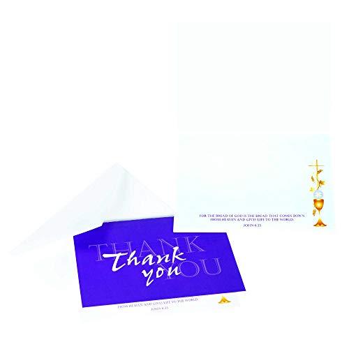 Grußkarten zur Erstkommunion (englischsprachig), Blau, 5 x 4 cm, 3 Packungen mit je 10 Stück