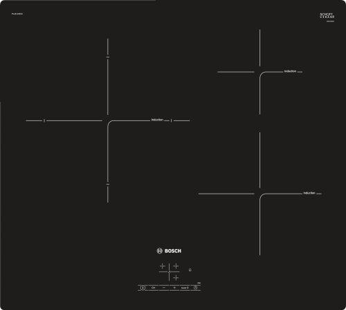Bosch Serie 4 PUJ611BB1E plaque Intégré Plaque avec zone à induction Noir - Plaques (Intégré, Plaque avec zone à induction, Verre-céramique, Noir, 1400 W, Rond)