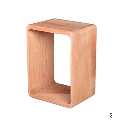 TQ Solide Holz-Klein-Sofa-Side Mini Square Moderne minimalistische Bed Multi-Größe Auswahl,B