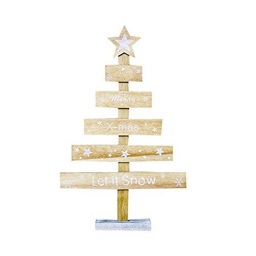 Busirde albero di natale in legno lettere colorate disegno tabella arredamento unico xmas acessories decorativi giallo
