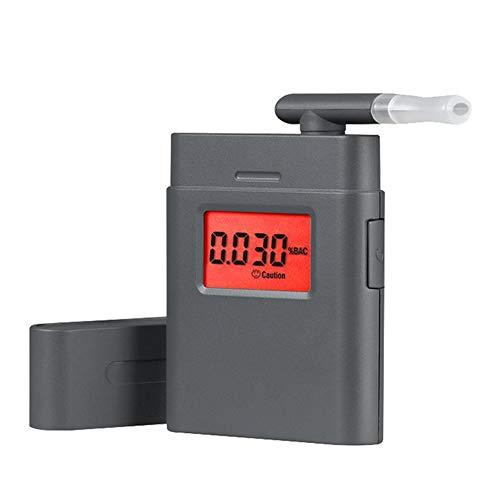 GAOHOU Alkoholtester Atemalkohol Tester Promilletester Atemalkoholmessgerät Alkohol Analyzer Tester mit akustischem Alarm mit 5 Mundstücke