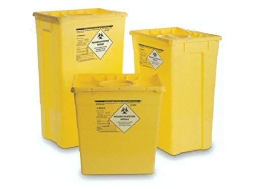 GIMA contenedor de residuos con doble tapa, 30 L, contenedor desechable y agujas