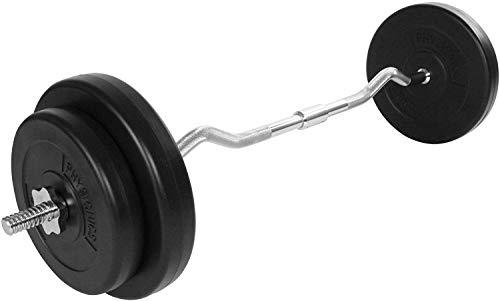 Nova Curl Bar Set con 4 Discos de Peso Total de 30 kg - Barra de Fitness para bíceps, Longitud 120...