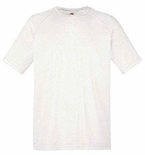 Fruit of the Loom Herren T-Shirt Performance T White
