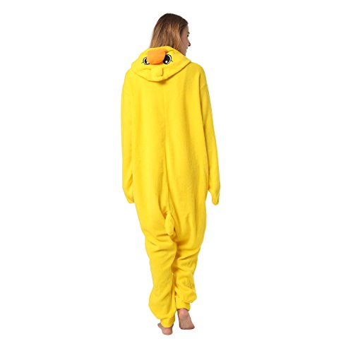Katara 1744 - Küken Kostüm-Anzug Onesie/Jumpsuit Einteiler Body für Erwachsene Damen Herren als Pyjama oder Schlafanzug Unisex - viele verschiedene (Halloween 7 Gruppe Kostüme)
