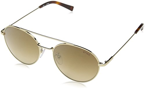 Sting ss4899, occhiali da sole unisex-adulto, marrone (shiny grey gold/matt), etichettalia unica