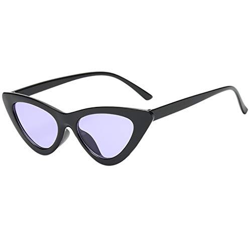 Whycat Damen Sonnenbrillen für Herren, Clout Goggles Cat Eye Damen Sonnenbrillen Small Frame High Pointed Glasses Sonnenbrille Damen Rund(F)