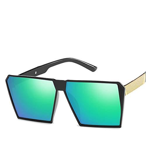 Sport-Sonnenbrillen, Vintage Sonnenbrillen, Square Oversized Sunglasses New Reflective Sunglasses Men Women Designer Luxury Fashion Lady Gafas Sun Glasses Oculos De Sol C5